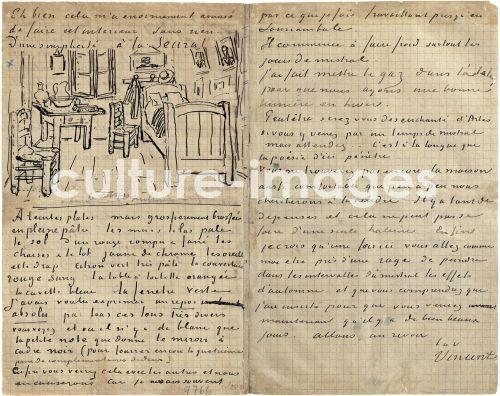 Vincent van Gogh, Das Schlafzimmer, Brief an Paul Gauguin von Arles ...