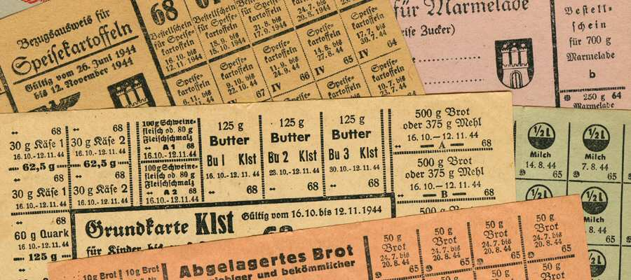 Food Ration Cards - 1940ies