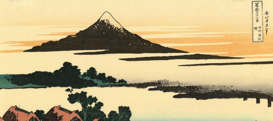 Dawn at Isawa in the Kai province, from a Series 36 Views of Mount Fuji